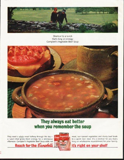 "1964 Campbell's Soup Ad ""They always eat better"""