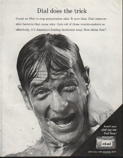 """1964 Dial Soap Ad """"does the trick"""""""