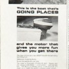 """1965 Evinrude Ad """"Going Places"""""""