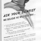 1937 Beech-Nut Oralgene Chewing Gum Ad