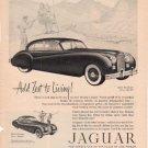 """1953 Jaguar Vintage Ad """"Add Zest To Living!"""""""