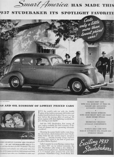 "1937 Studebaker Ad ""Smart America"""
