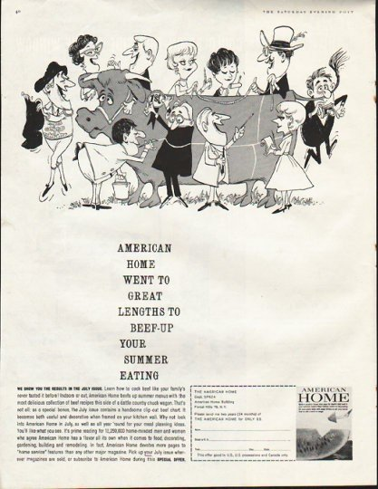 "1961 American Home Magazine Ad ""great lengths"""