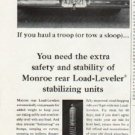 "1965 Monroe Shock Absorber Ad ""haul a troop"""