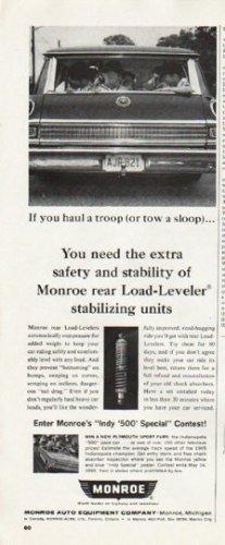 """1965 Monroe Shock Absorber Ad """"haul a troop"""""""