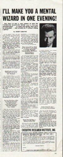 """1965 Executive Research Institute Ad """"mental wizard"""""""