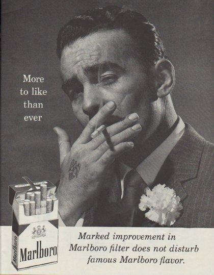 "1958 Marlboro Cigarettes Ad ""More to like than ever"""
