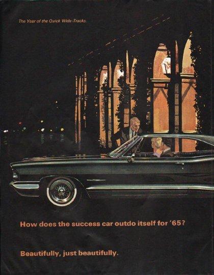 "1965 Pontiac Bonneville Ad ""success car"" ~ (model year 1965)"