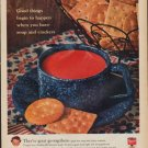 "1961 Campbell's Soup Ad ""soup and crackers"""