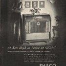 "1948 Philco Radio-Phonograph Ad ""A New High"""