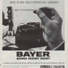 """1961 Bayer Aspirin Ad """"pains and fever of Colds and Flu"""""""