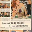 """1948 Lustre-Creme Shampoo Ad """"Bill's Dream Girl"""""""