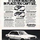 "1980 Subaru Ad ""beautiful in places"" ~ (model year 1980)"