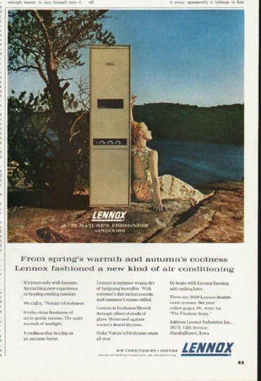"1965 Lennox Ad ""From spring's warmth"""