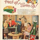 "1948 7-Up Soda Ad ""all the family"""