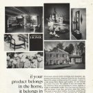 "1961 American Home Magazine Ad ""it belongs"""
