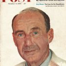 "1956 Saturday Evening Post Cover Page ""Adlai Stevenson"" ~ October 6, 1956"