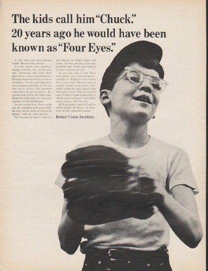 "1965 Better Vision Institute Ad ""Chuck"""