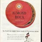 """1961 Almond Roca Ad """"So fresh"""""""