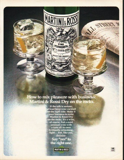 "1980 Martini & Rossi Ad ""How to mix"""