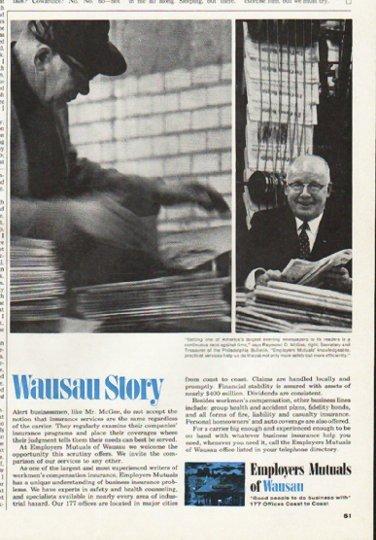"1965 Employers Mutuals of Wausau Ad ""Raymond D. McGee"""