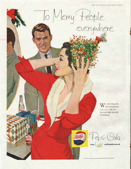 "1958 Pepsi-Cola Ad ""Merry People"""