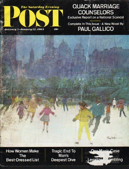 1963 Saturday Evening Post Cover Page ~ January 5, 1963