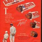 "1961 Baby Ruth Candy Bar Ad ""Tall men"""