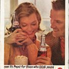 "1963 Pepsi-Cola Ad ""those who think young"""