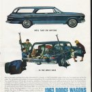"1963 Dodge Wagons Ad ""take on anyone"""