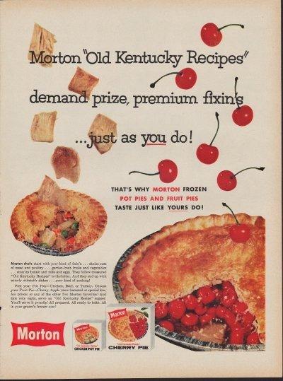 "1960 Morton Pie Ad ""Old Kentucky Recipes"""