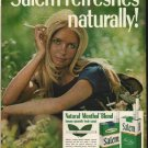 "1972 Salem Cigarettes Ad ""Salem refreshes naturally"""