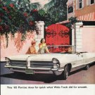 """1965 Pontiac Bonneville Ad """"does for quick"""" ~ (model year 1965)"""