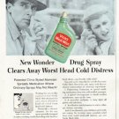 "1956 Vicks Nasal Spray Ad ""New Wonder"""