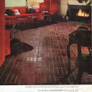 "1965 Kentile Floors Ad ""beautiful brick floor"""