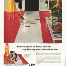 "1958 Johns-Manville Floors Ad ""Fabulous floors"""