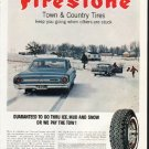 """1964 Firestone Tires Ad """"Town & Country Tires"""""""