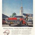 """1958 Pontiac  Ad """"Pleasant Parking"""" ~ (model year 1958)"""