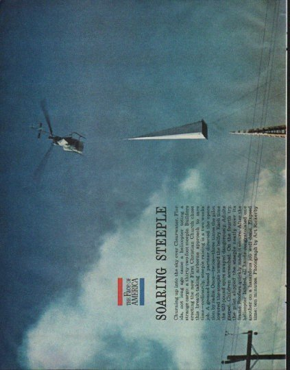 """1961 The Face of America Article """"Soaring Steeple"""""""
