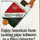"1965 Half and Half Cigarettes Ad ""America's best-tasting"""