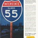 """1958 Caterpillar Ad """"World's Best Highways"""""""