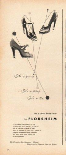 """1948 Florsheim Shoes Ad """"It's a pump"""""""