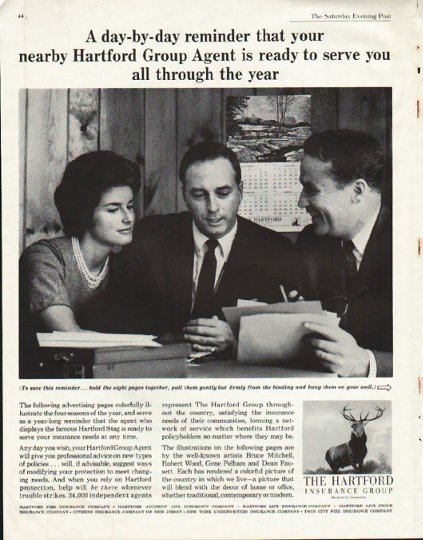"1961 The Hartford Insurance Ad ""reminder"""