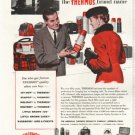 """1958 Thermos Ad """"You're sure of the quality"""""""