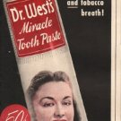 "1948 Dr. West's Tooth Paste Ad ""Package of Smiles"""