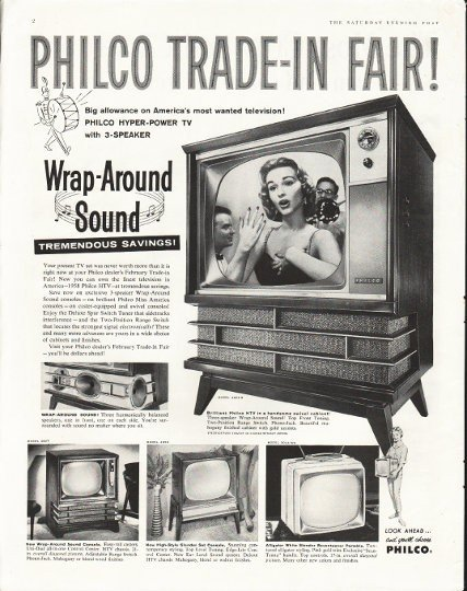 "1958 Philco Television Ad ""Trade-In"""
