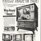 """1958 Philco Television Ad """"Trade-In"""""""