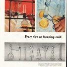"1958 Kimble Glass Company Ad ""fire or freezing cold"""