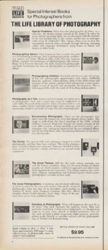 """1972 Time-LIFE Books Ad """"LIFE Library of Photography"""""""