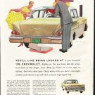 "1958 Chevrolet Biscayne Ad ""being looked at"" ~ (model year 1958)"